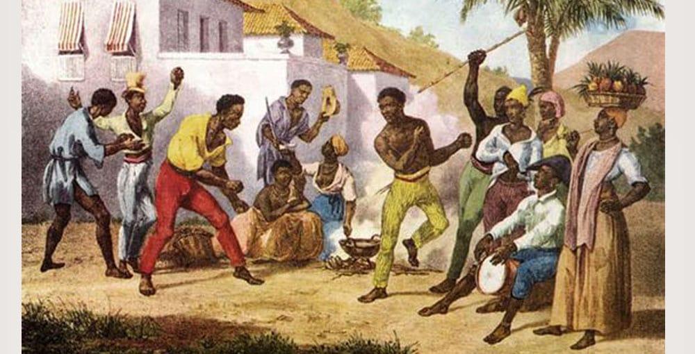 baile esclavos origen del shuffle